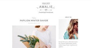 amalie blogger template