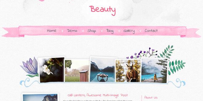 Beauty Blogger Template
