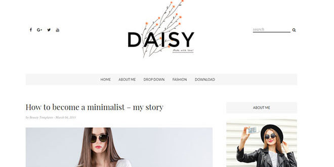 Daisy Blogger Template