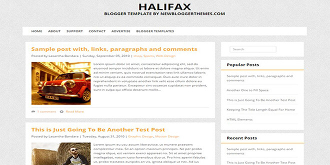 Halifax Blogger Template