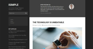 ISimple Blogger Template