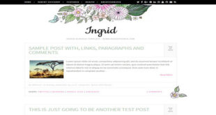 Ingrid Blogger Template