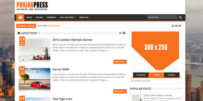 Punjab Press Blogger Template