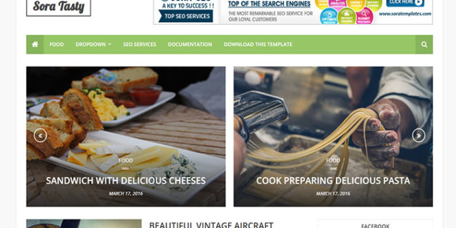 Sora Tasty Blogger Template