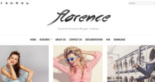 Florence Minimal Blogger Template