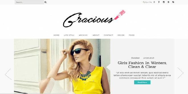 Gracious Responsive Blogger Template