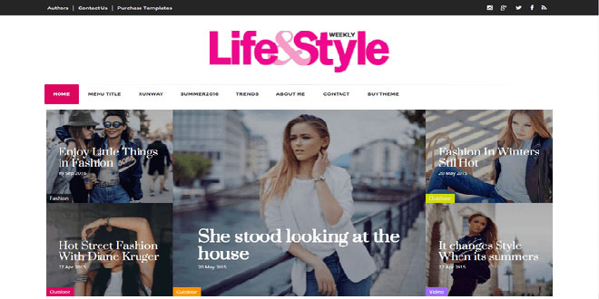 Life&Style Magazine Blogger Template