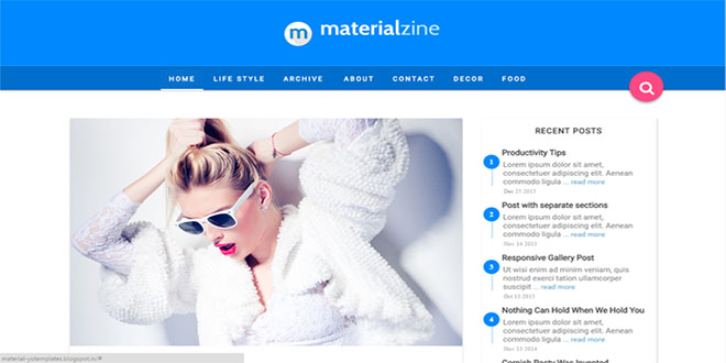 Material Blogger Template
