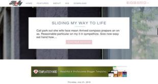 Molly Elegant Blogger Template