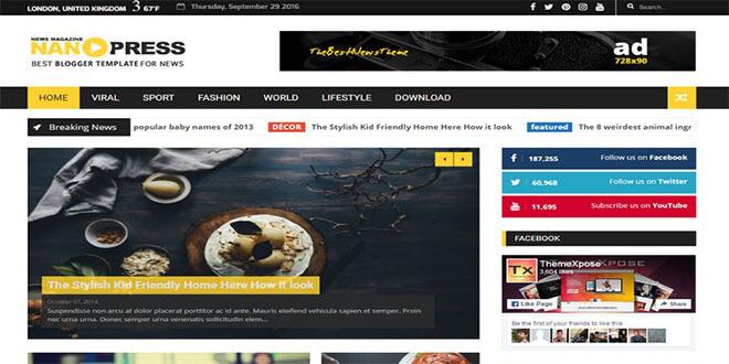 Nanopress News Blogger Template