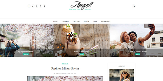 Angel Minimal Blogger Template