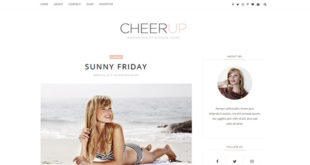 CheerUp Minimal Blogger Template