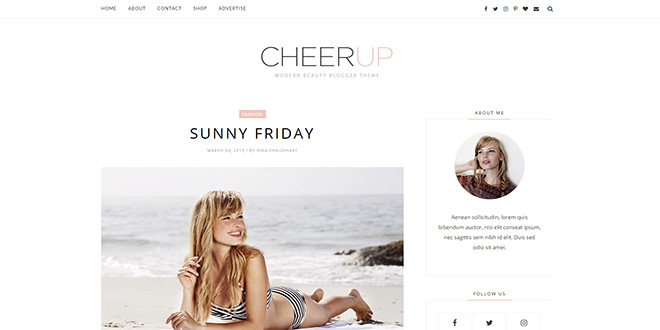 CheerUp Minimal Blogger Template