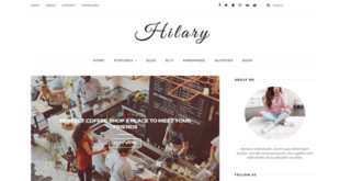 Hilary Elegant Blogger Template