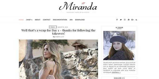 Miranda Minimal Blogger Template