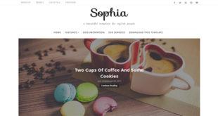 Sophia Minimal Blogger Template