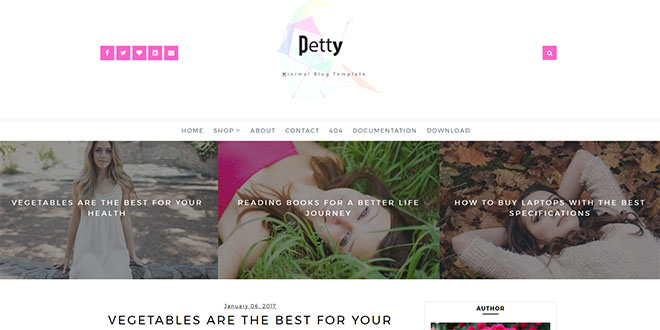 Petty Minimal Blogger Template