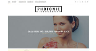 Photonic Photography Blogger Template