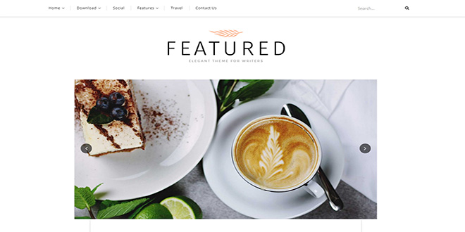 Featured Personal Blogger Template